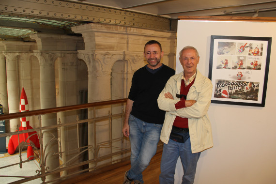 Grégory Panaccione and Bruno Bozzetto - © Daniel Fouss/Comics Art Museum test