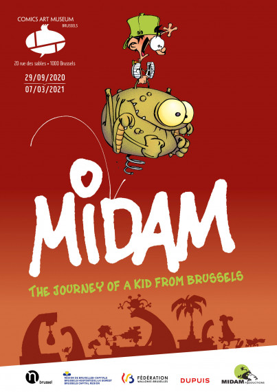 Midam, The Itinerary of a Kid from Brussels - Poster EN test