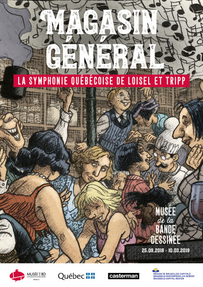 "Poster FR - ""Magasin Général, A Quebec Symphony by Loisel and Tripp"" test"