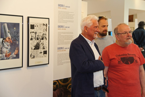 Griffo and Jean-Claude De la Royère (Curator) - © Daniel Fouss/Comics Art Museum test