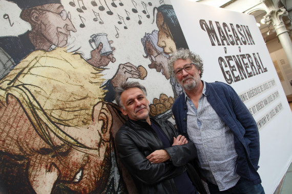 Jean-Louis Tripp and Régis Loisel - © Daniel Fouss/Comics Art Museum test